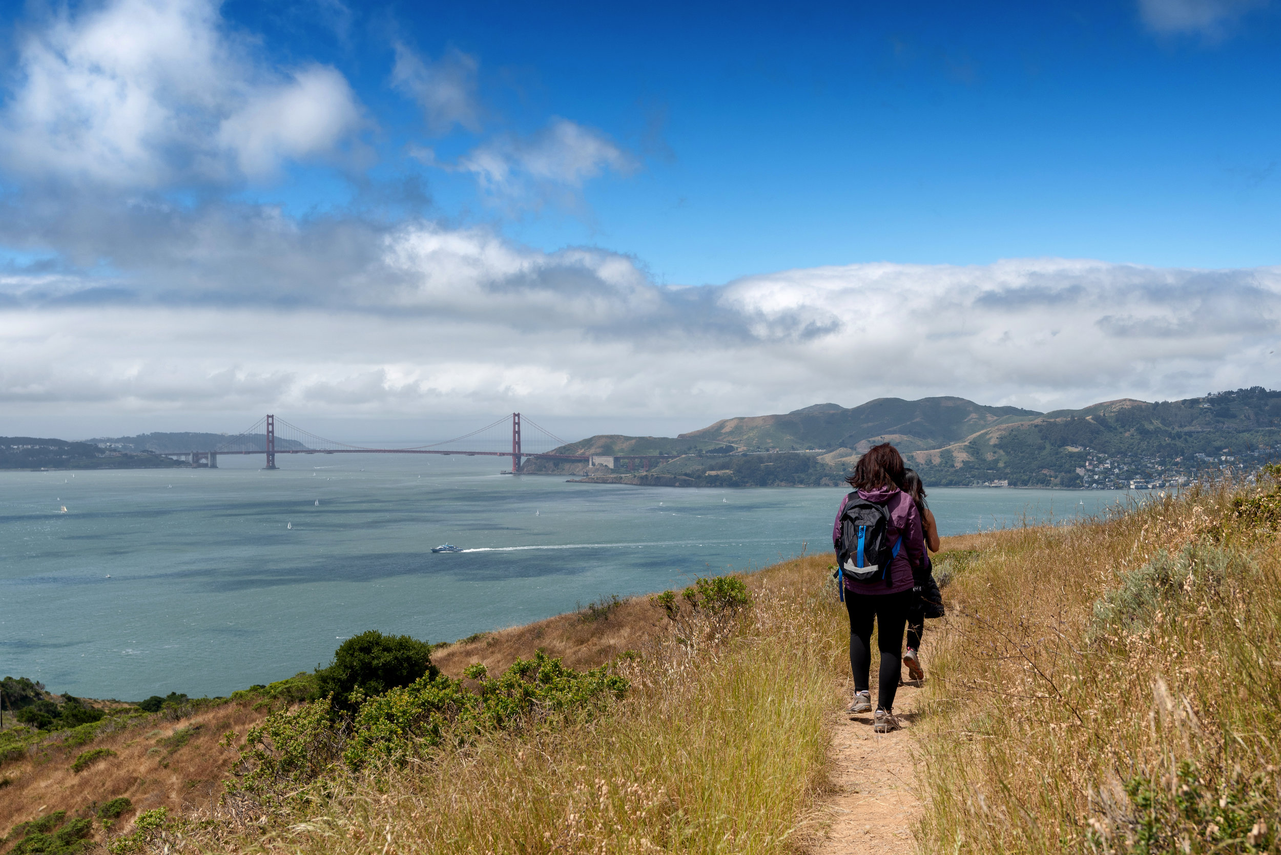 The trails of Angel Island State Park offer some pretty spectacular views!