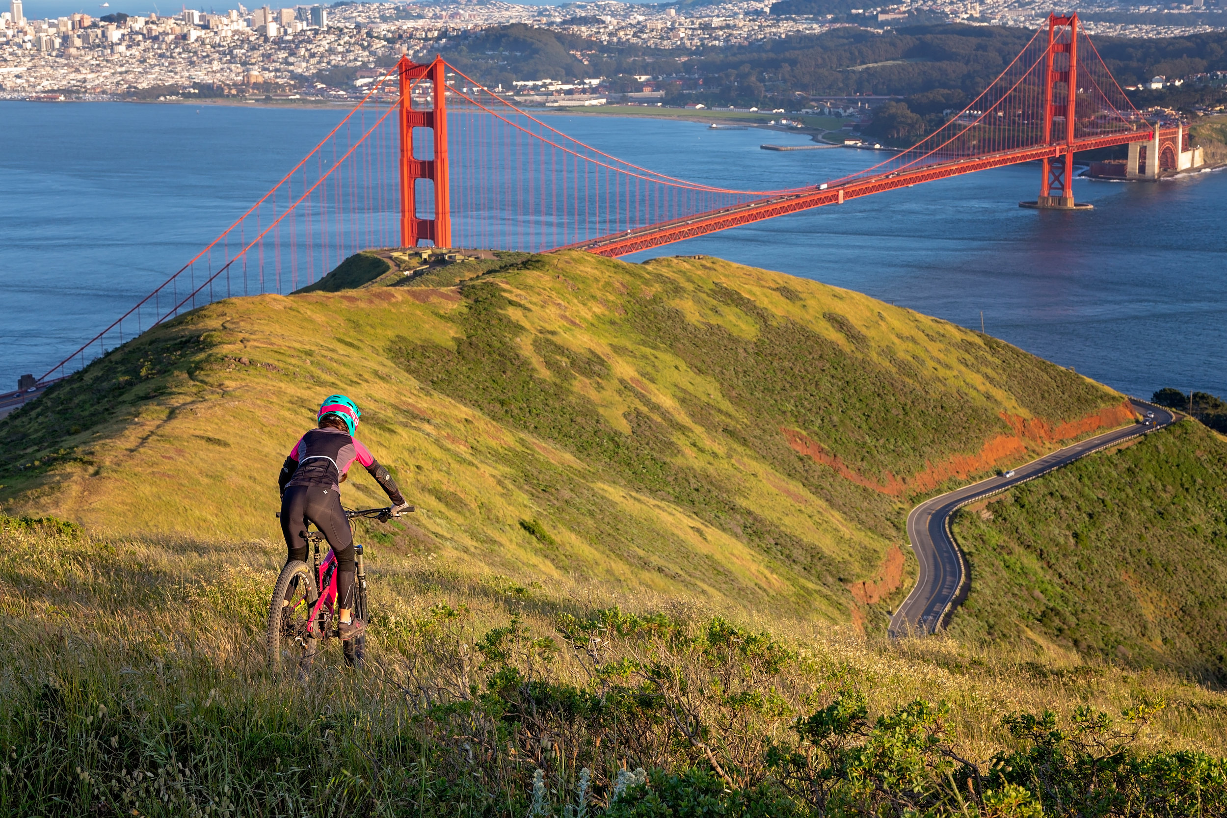 Talk about a ride with a view in the Marin Headlands.