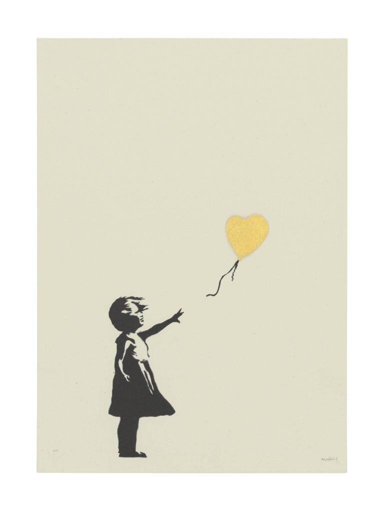 Banksy,  Girl with Balloon  (2004). Image courtesy of Christie's.