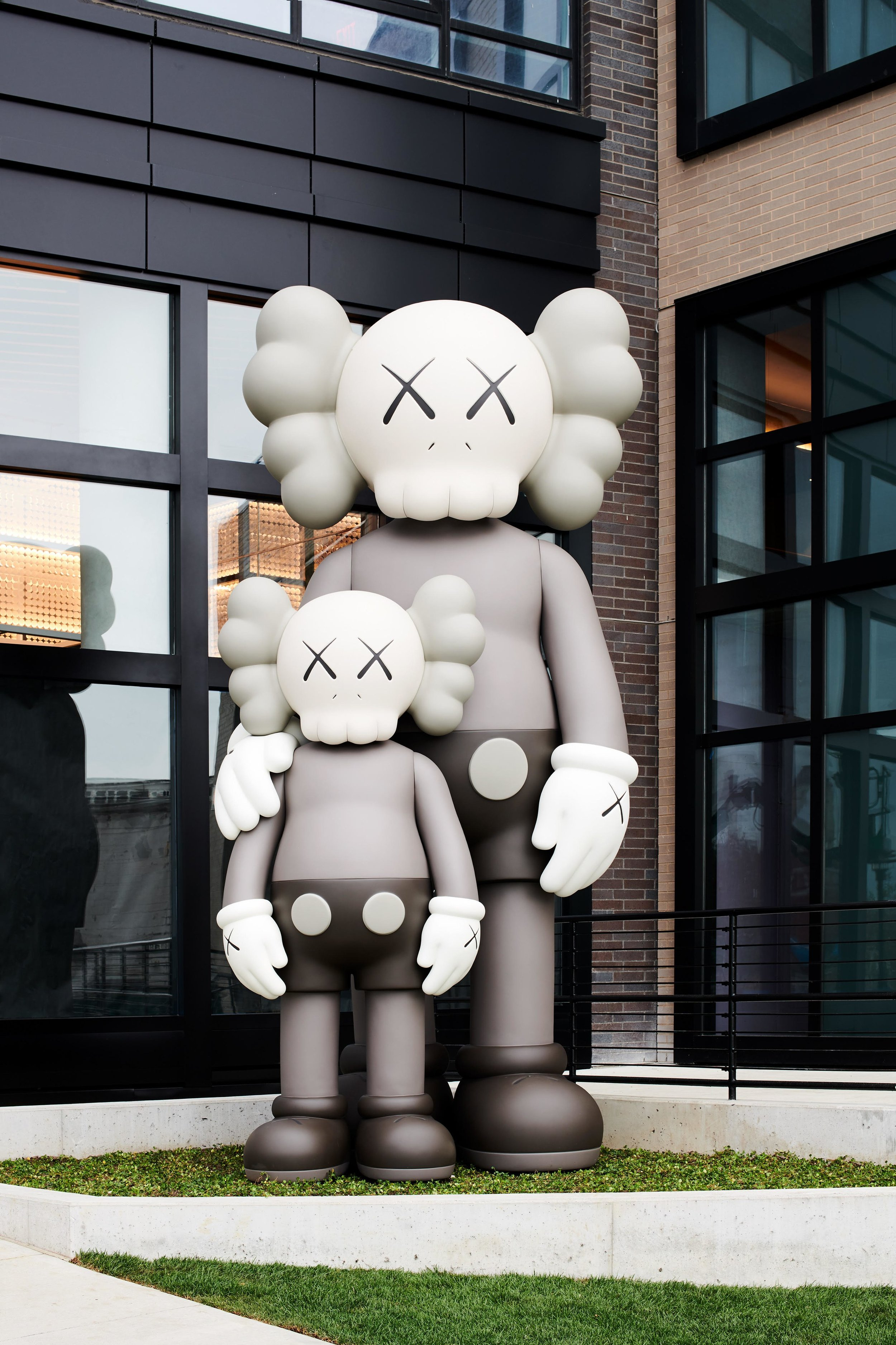 KAWS unveiled his newest sculpture in Brooklyn.