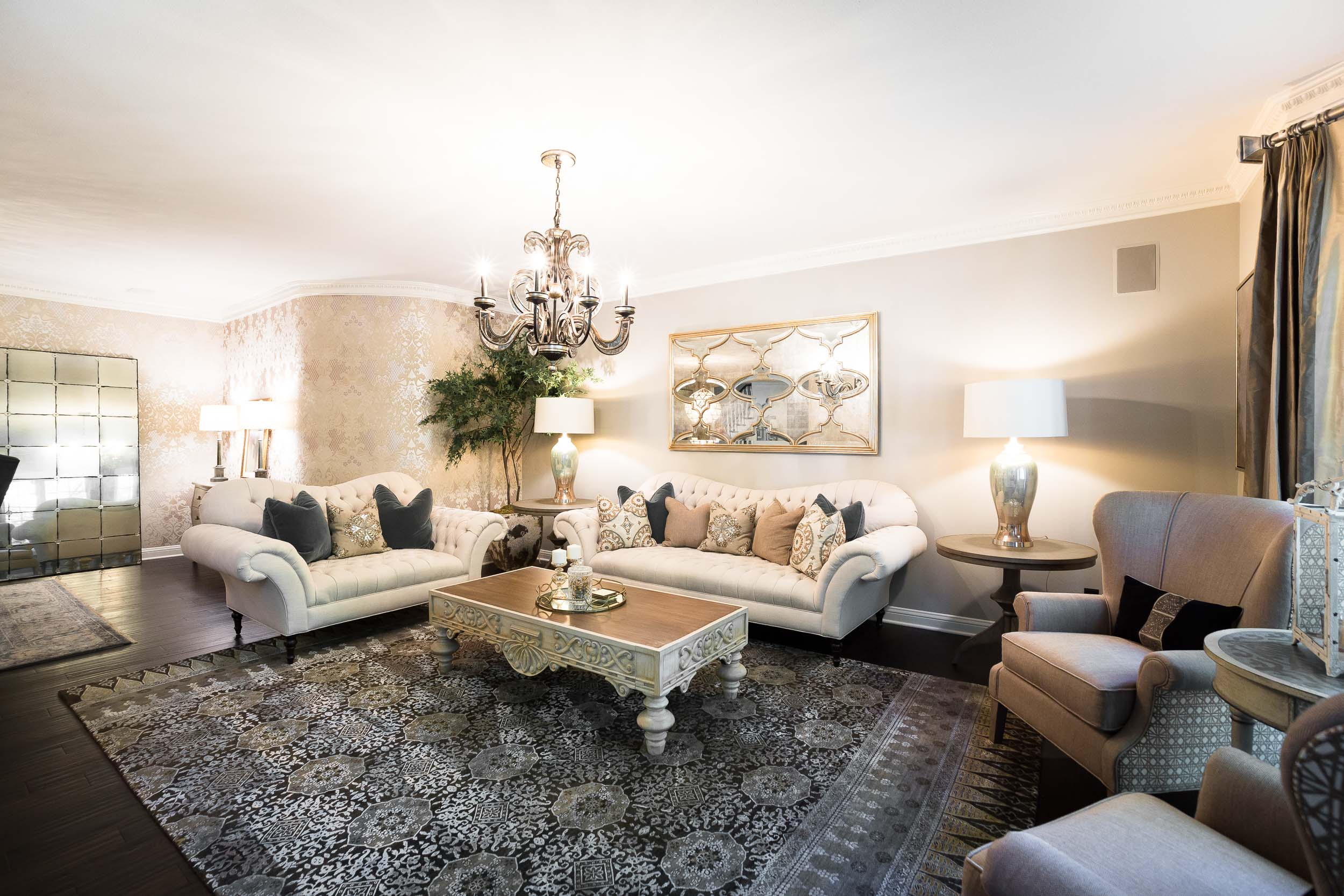 Traditional Luxe Living Room Alison Chance