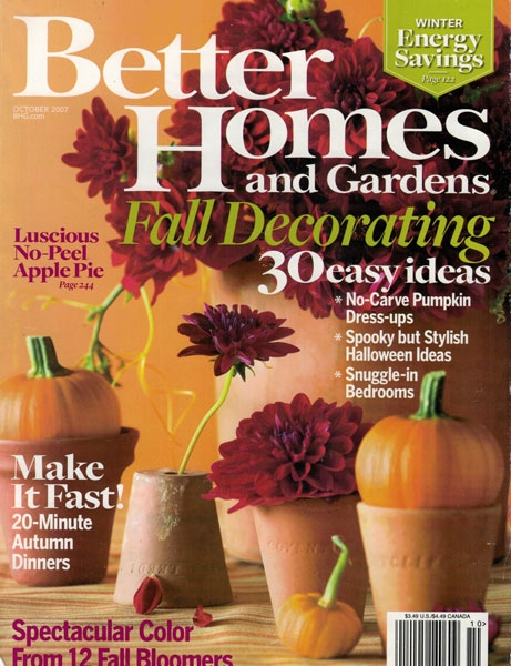 BETTER HOMES AND GARDENS, OCT. 2007