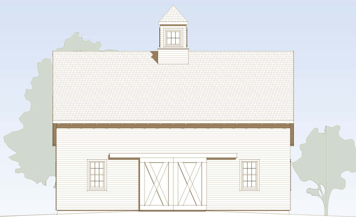 Adams Timber Frame Barn Elevation