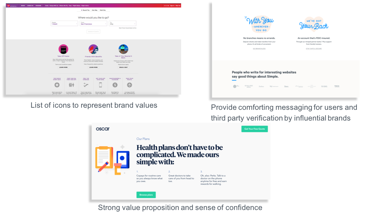Snippet of best-in-class examples and competitor analysis