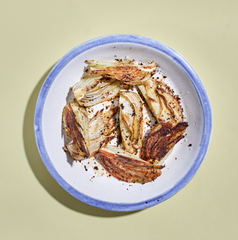 Roasted Fennel with black Ufra chili -