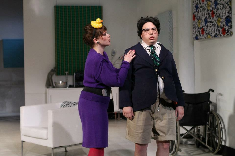 With John Bass in The Imaginary Invalid