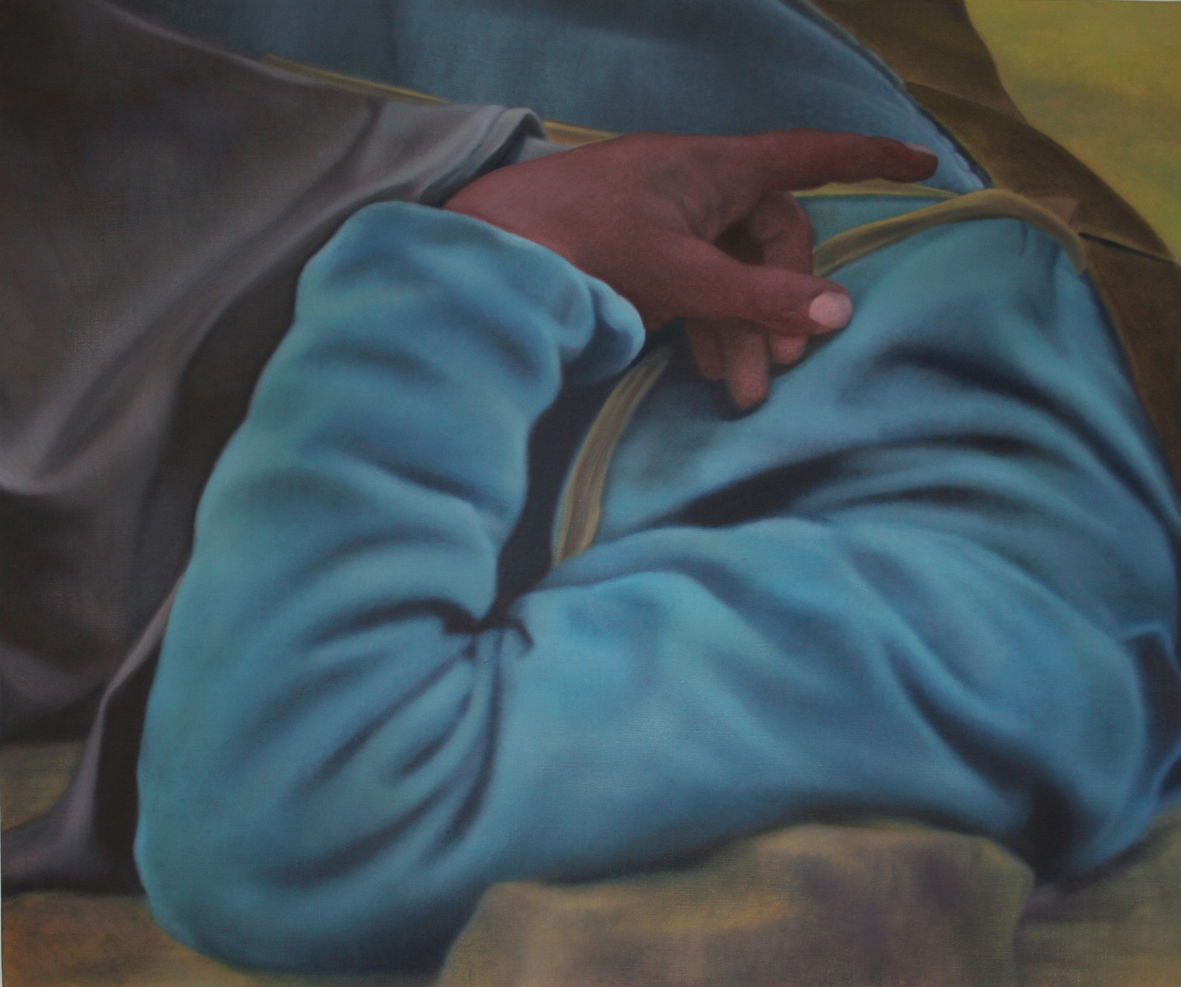 "Union Soldier, 30"" x 35"", oil on linen, 2013"