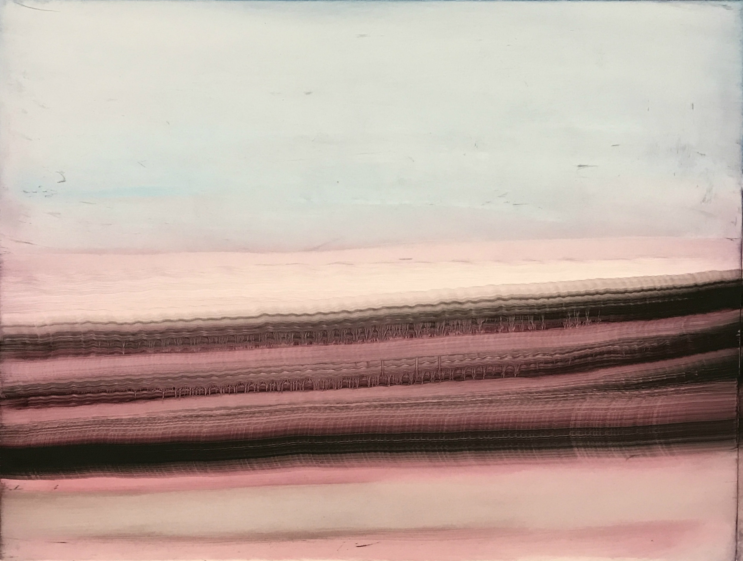"O.T. (no.69), 20"" x 25"", oil on paper, 2018"