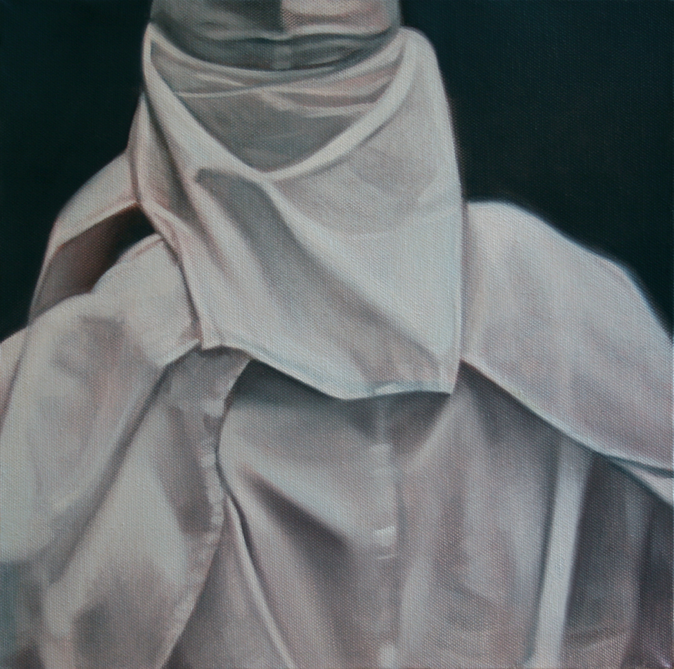 "White (Clansman), 16"" x 16"", oil on canvas, 2012"