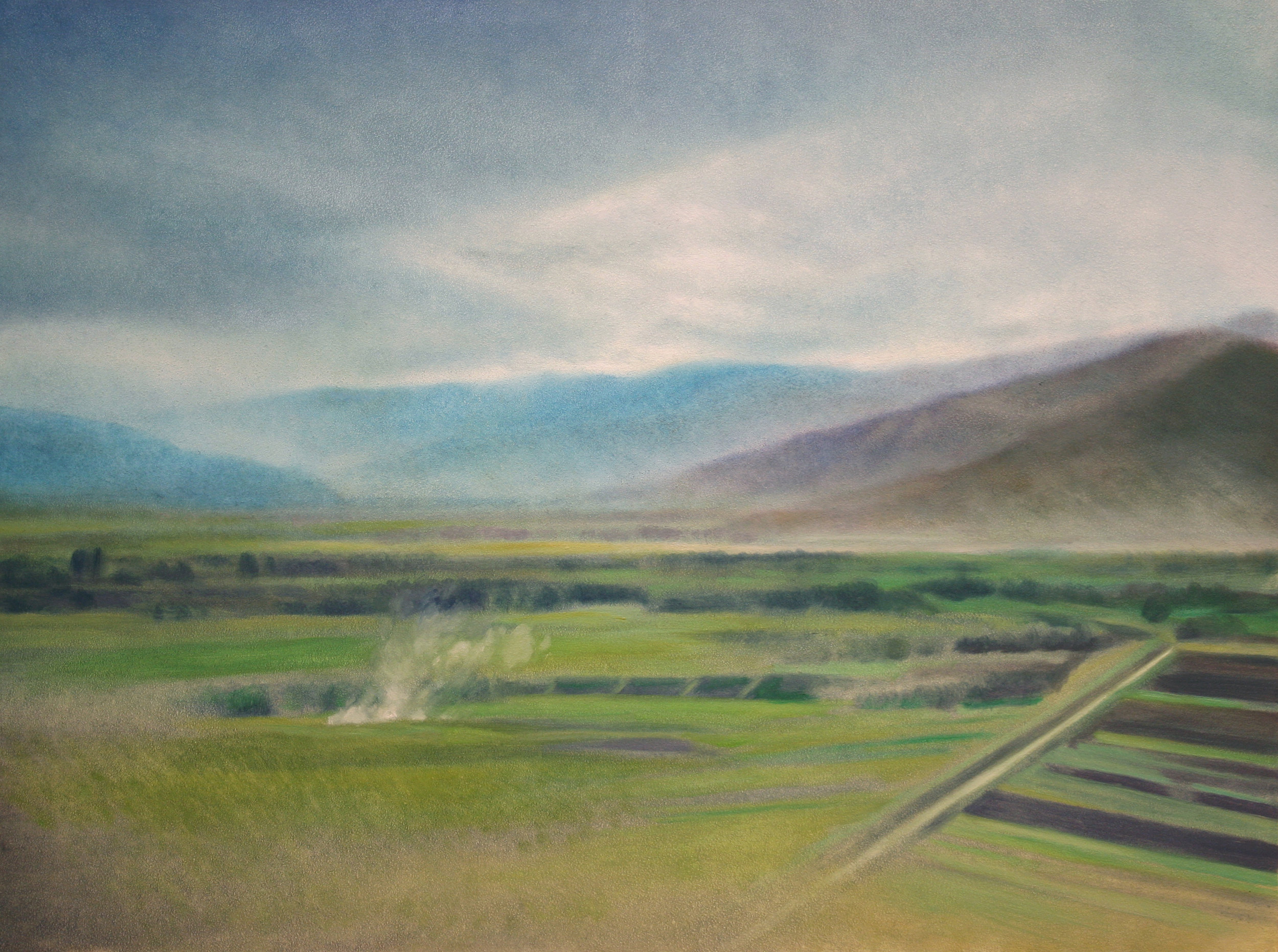 "Baghlan Province (Afghanistan), 9"" x 12"", oil on panel, 2011"
