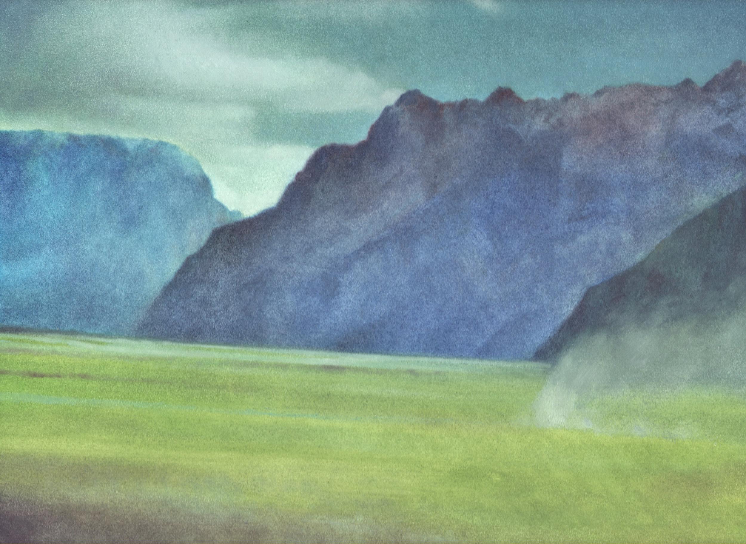 """Badakhshan Province (Afghanistan), 9"""" x 12"""", oil on panel, 2010"""
