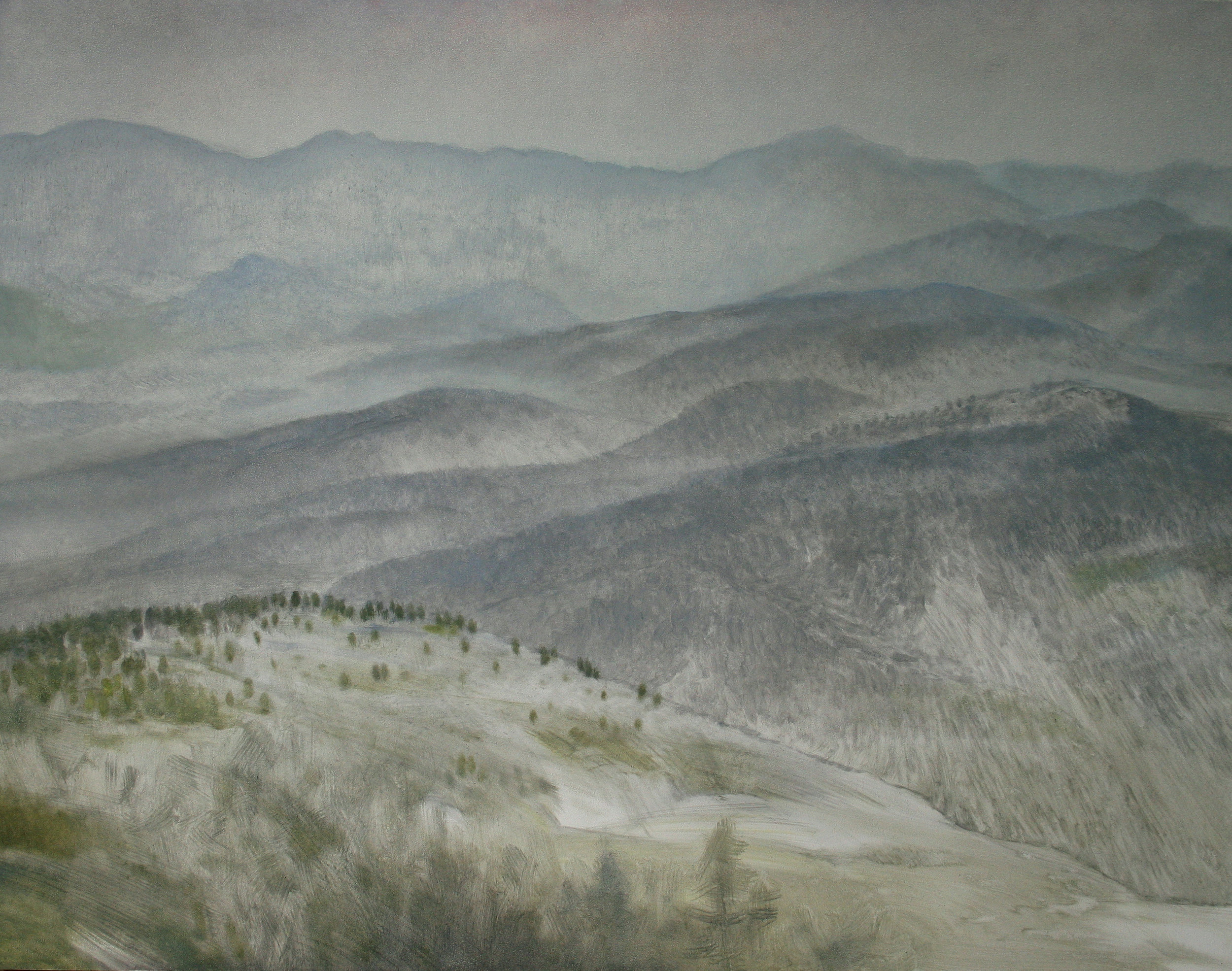"""Paktika Province (Afghanistan), 11"""" x 14"""", oil on panel, 2011"""