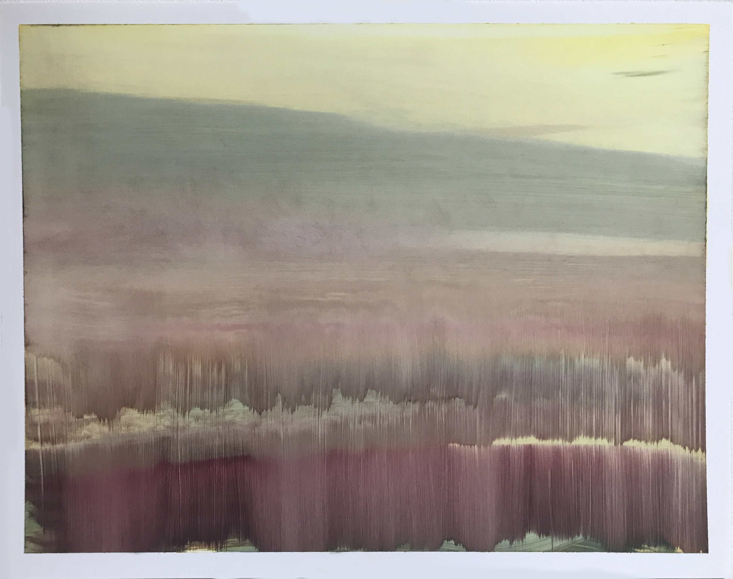 "O.T. (no.116), 11"" x 14"", oil on paper, 2018"