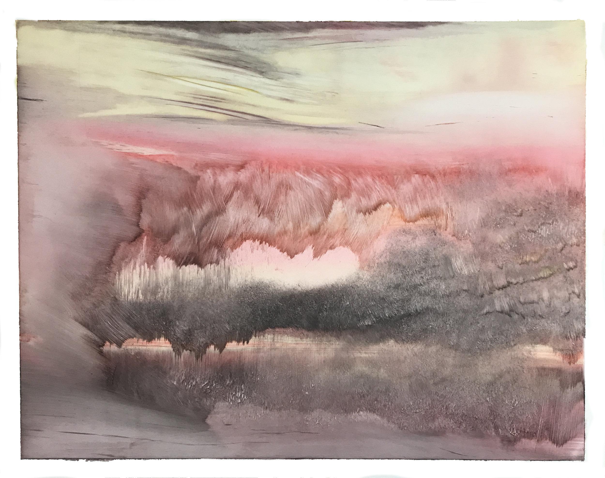 "O.T. (no.105), 11"" x 14"", oil on paper, 2018"