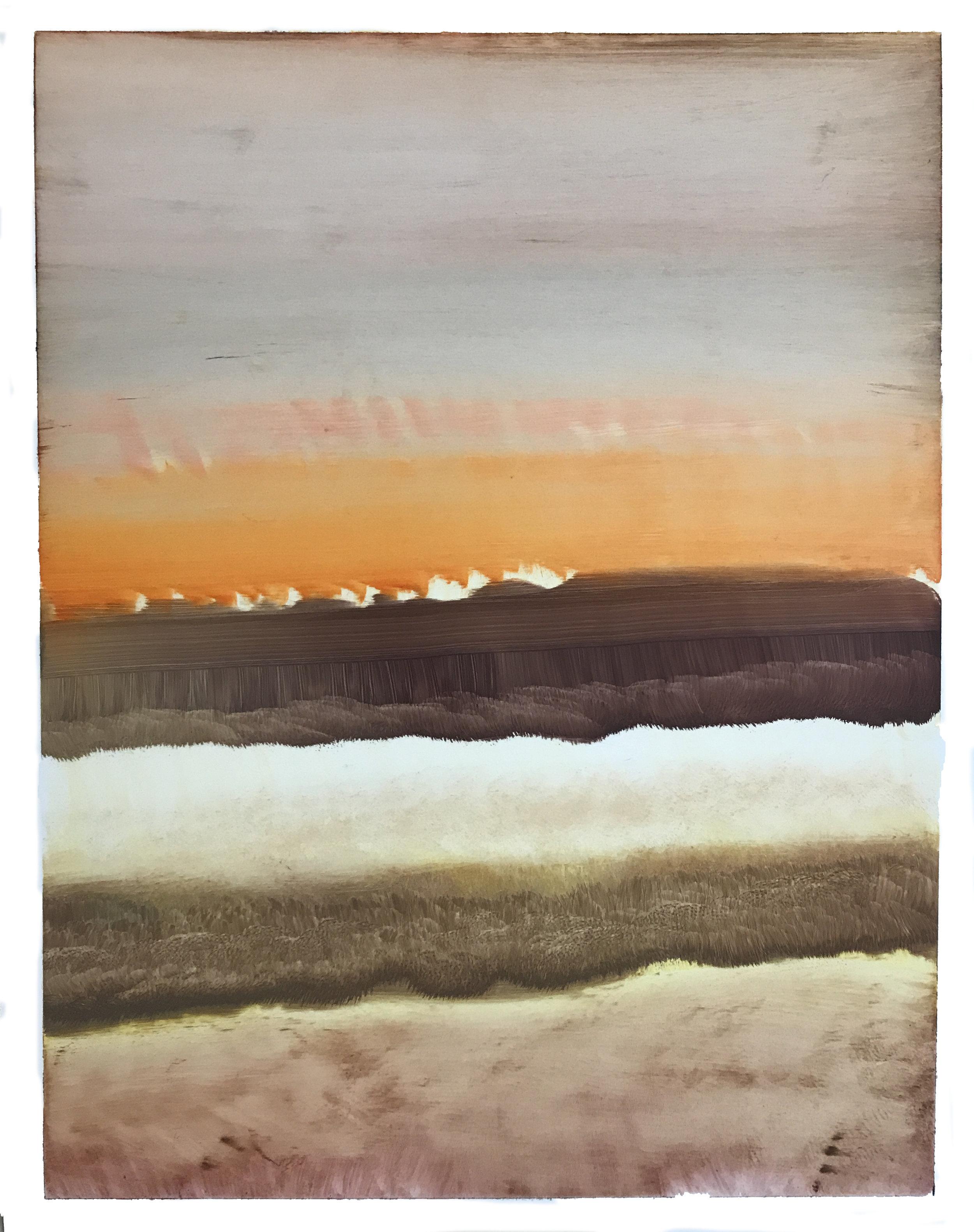 "O.T. (no.119), 11"" x 14"", oil on paper, 2018"