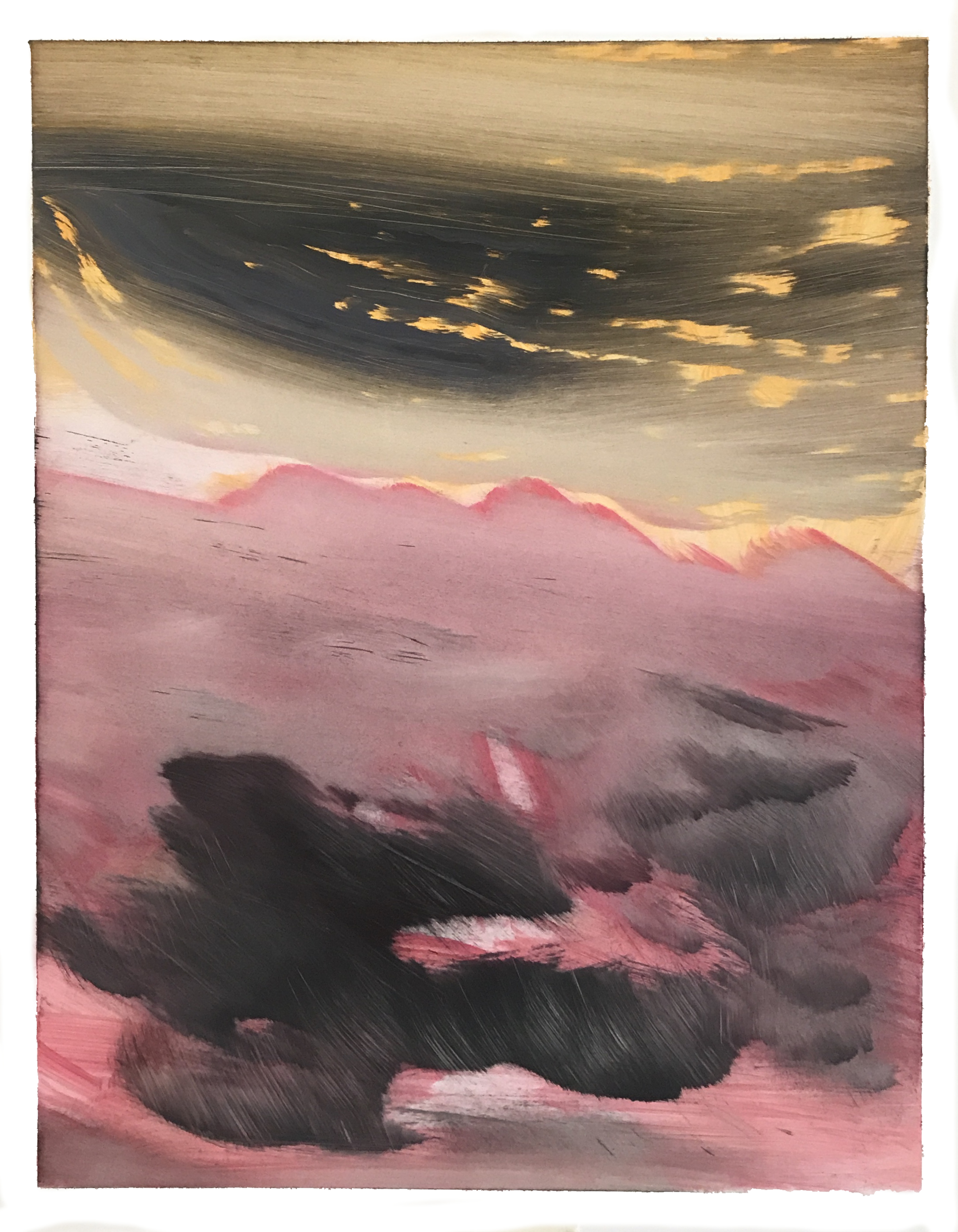 "O.T. (no.121), 11"" x 14"", oil on paper, 2018"