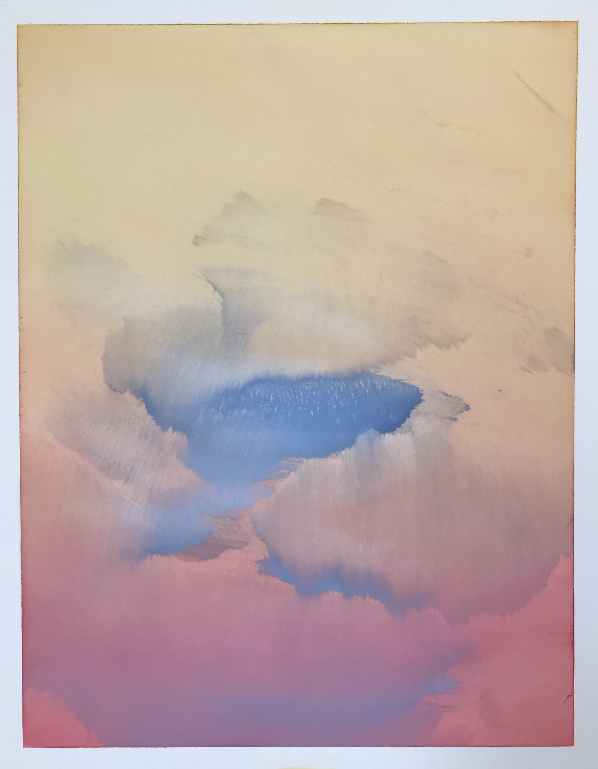 "O.T. (no. 163), 14"" x 11"", oil on paper, 2019"
