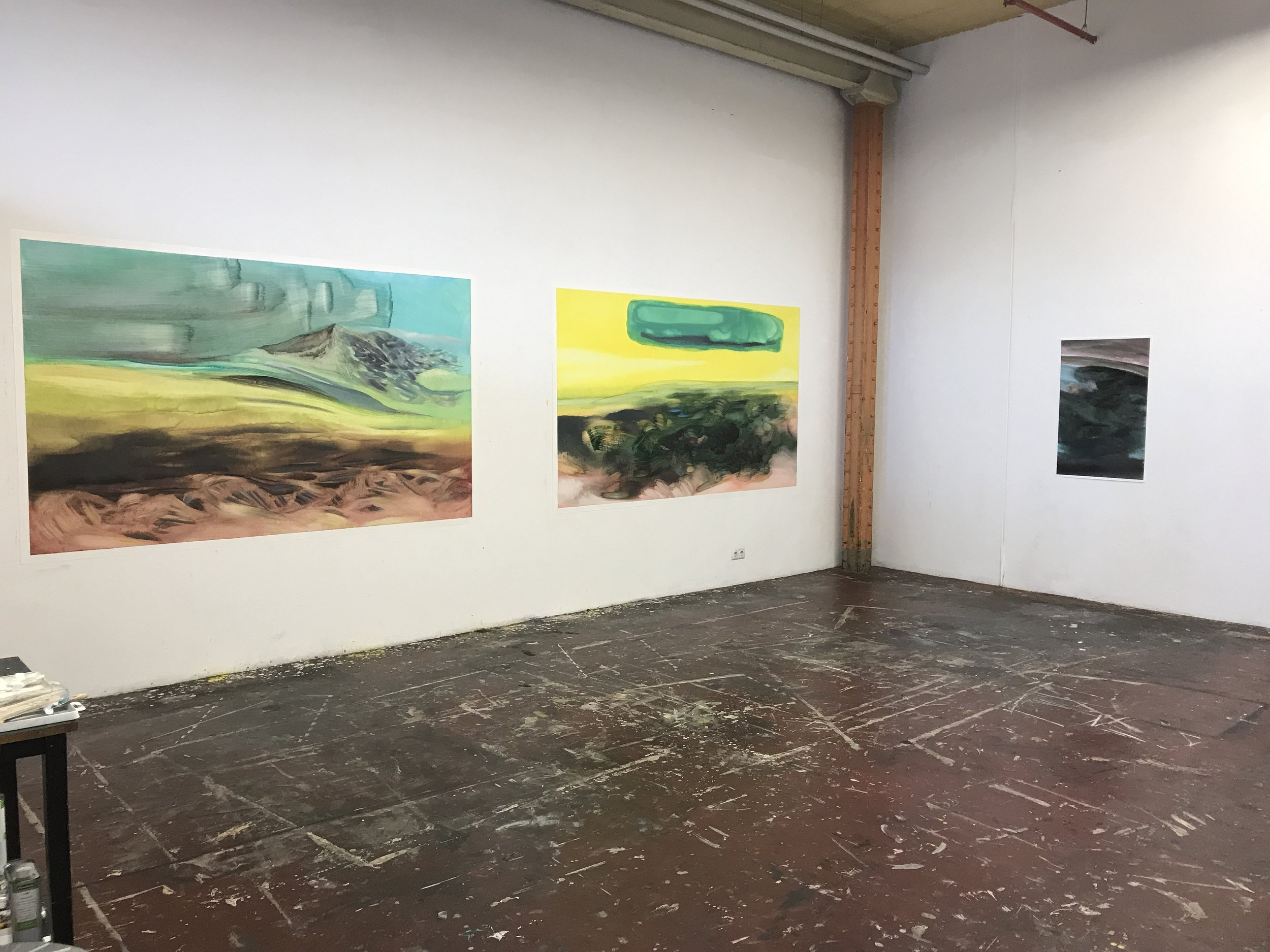 """Installation Shot from the """"Rundgang"""" at the Spinnerei in Leipzig (Germany)"""