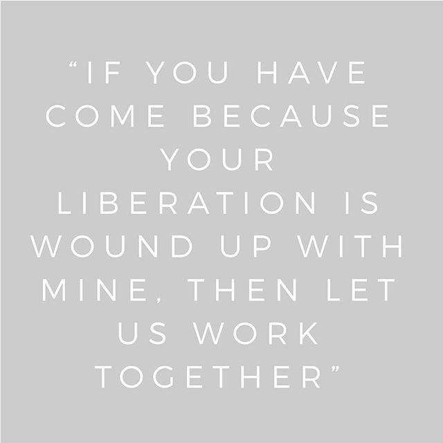 Part of practicing ahimsa is working towards liberation. Hand in hand. In partnership. We learn from each other.