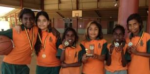 News Smarter than Smoking Girls Basketball SMARTER THAN SMOKING GIRLS BASKETBALL Halls Creek IMG_1895 ed Warmun girls with their winning trophy and medals. Way to go!