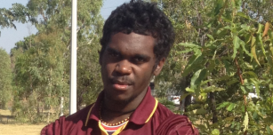 Aloysius Bundamurra joined Garnduwa on our trip to Glen Hill community and the Clontarf Northwest Championship Football Carnival for work experience.