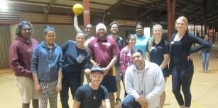 Halls Creek Level 0 Basketball Officiating participants with Basketball WA Representative Jess Byrnes