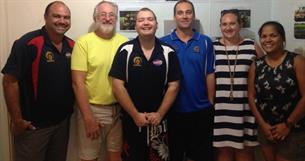 Fitzroy New Staff Induction – Mick, Geoff, Thomas, Craig, Clare and Merrilee (l to r)