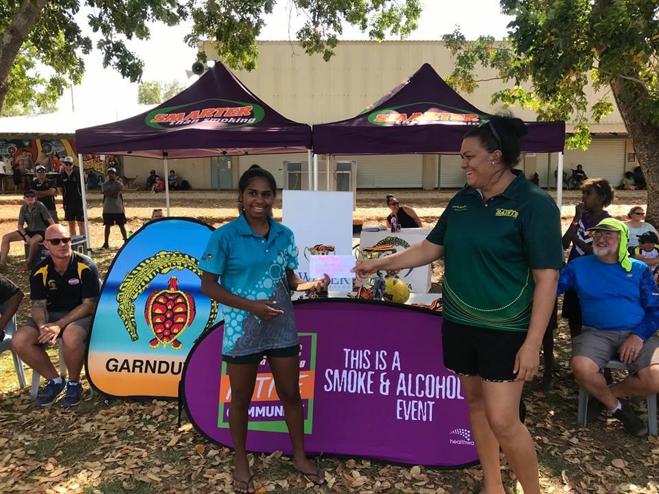 Garnduwa Festival 2018 - Grand Final B Grade MVP Cazarah Augustine.jpg