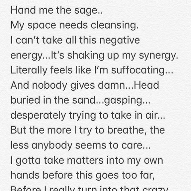 Haven't written anything like this in YEARS, but last night I felt the need to release a little bit... ✨ Instead of allowing what bothered me to send me to bed angry, I took about 20 minutes to express my feelings on paper (well in my phone notes lol) and slept like a baby! Let me know what y'all think! Should I explore this avenue more? 🤔✨🦄 #passthesage