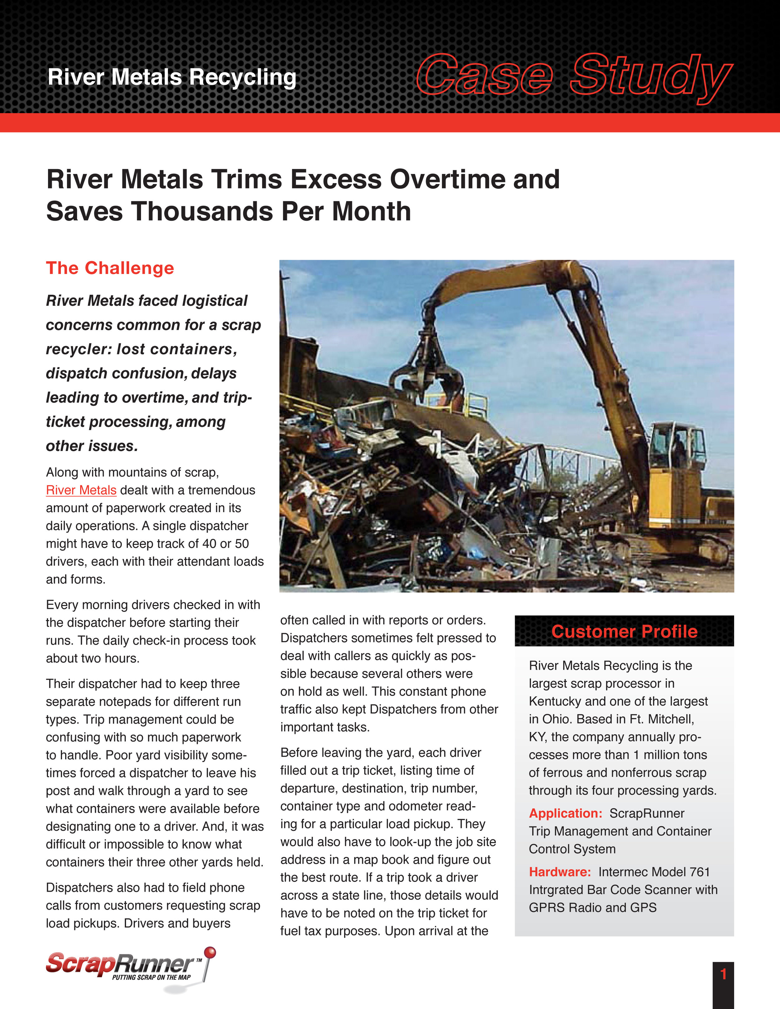 Client: ScrapRunner Industry: SaaS/Scrap metal recycling Details: Both writing and design by Nicole Dornsife. Illustrations by Larry LaBallister