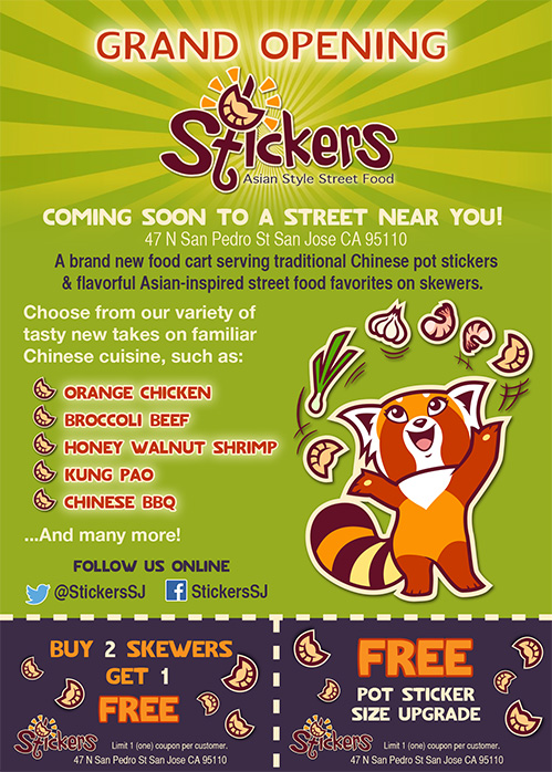 Client: Stickers Industry: Food service Details: Writing, design, and illustrations by Nicole Dornsife