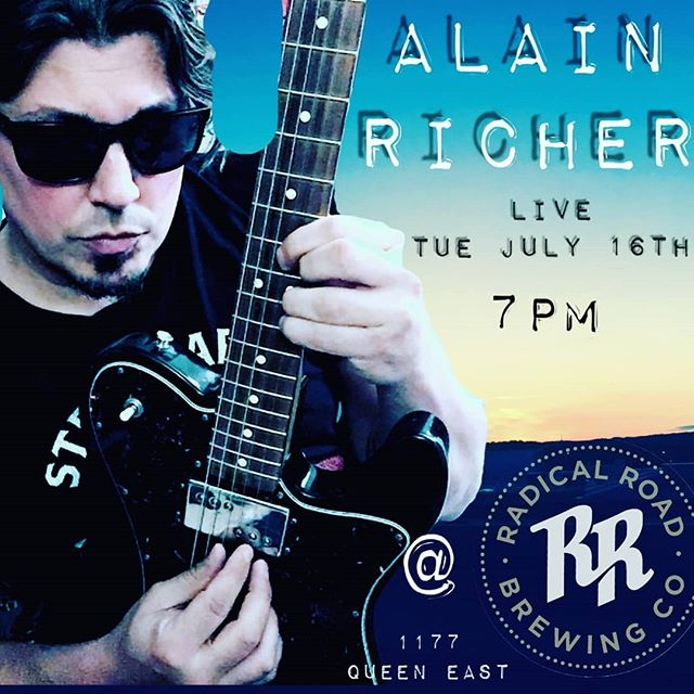 Come and listen to Alain Richer playing tonight! 7pm at 1177 Queen St. E.
