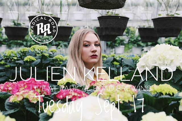 Spotify sensation, Julien Kelland live tomorrow at the brewery tomorrow evening. 7-9.