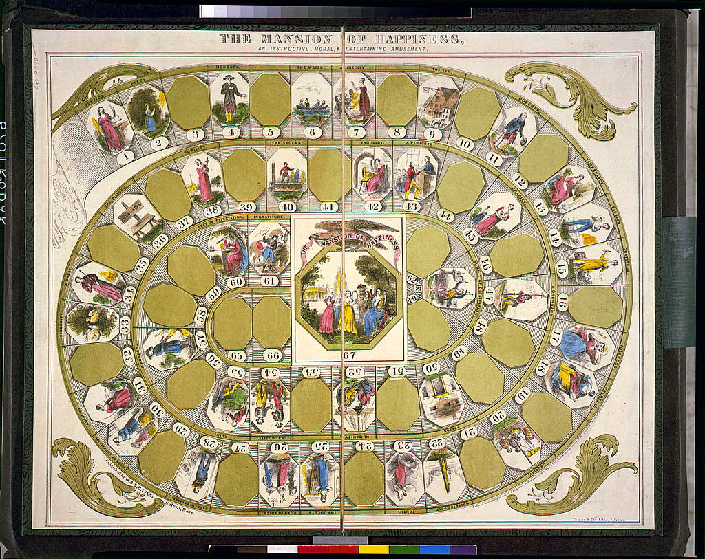 Image of the Mansion of Happiness board game