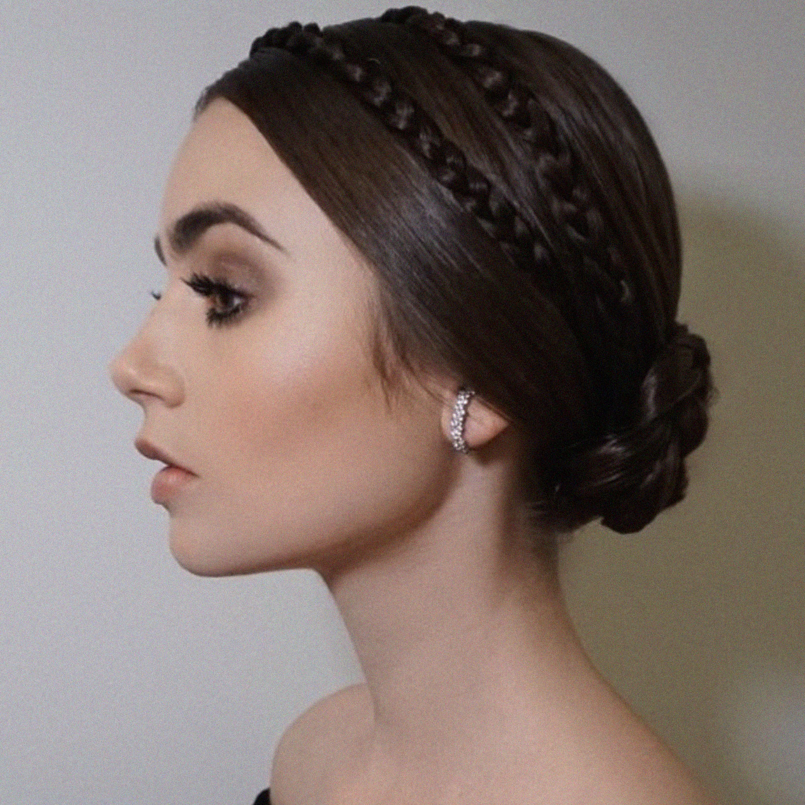 TEEN VOGUE - Lily Collins Wore a Braided Crown at the Governors Awards