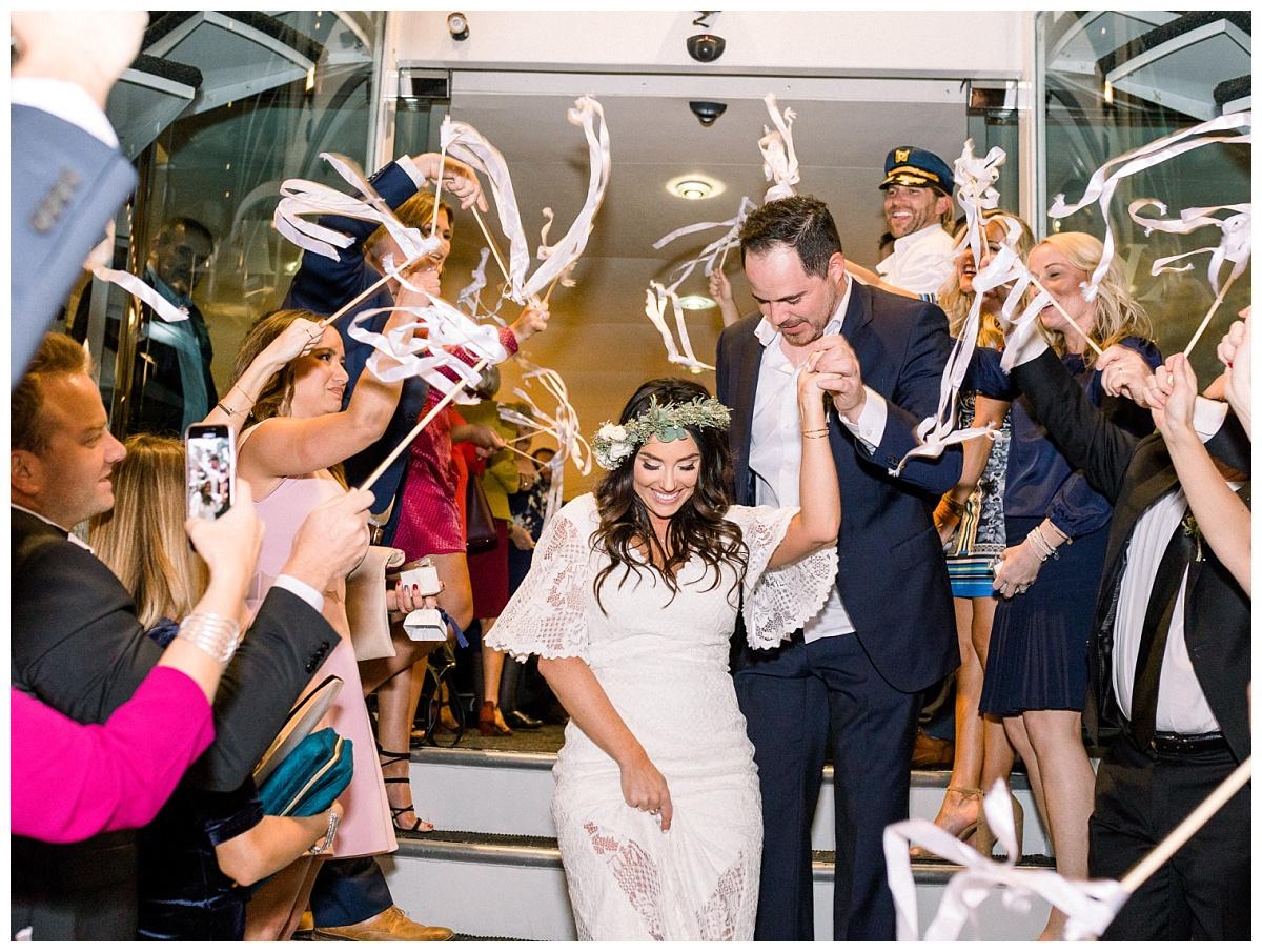 electra cruise wedding, newport beach yacht wedding