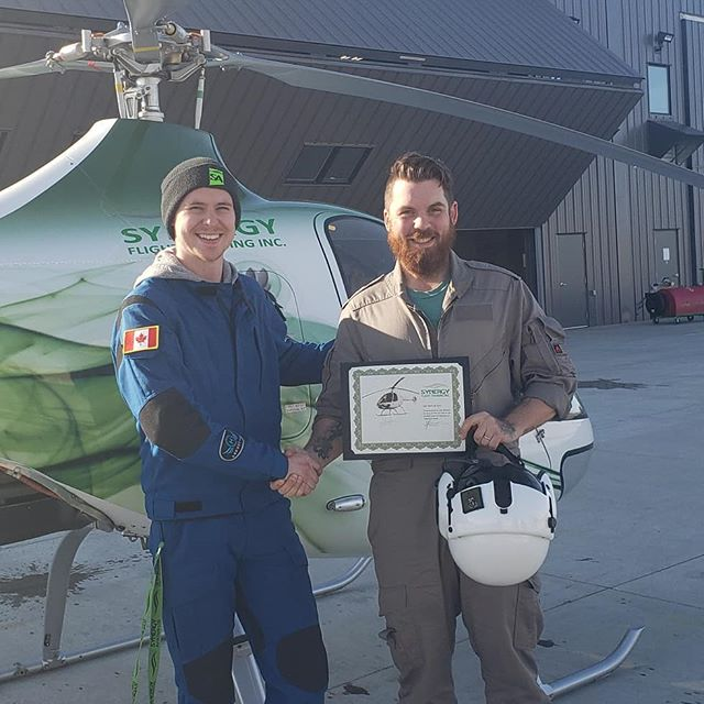 Another solo, another bucket of cold water!  Congratulations Josh on your first solo! #futureawesomepilots #helicoptertraining #helicopterflightschool #flighttraining #guimbalcabrig2