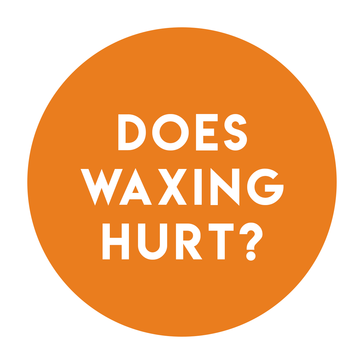 A. - Yes, but the pain goes away in seconds and every person's pain tolerance is different. It gets much easier after the first time. If you are extra sensitive or about to get your period please consider taking ibuprofen 45 minutes to an hour prior to your appointment.