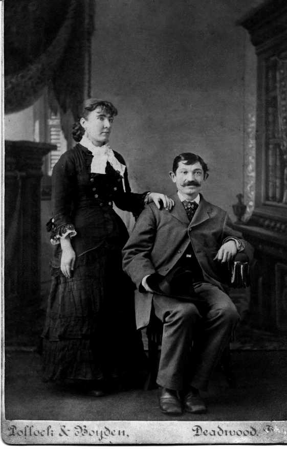 Henry and Christina Rosenburg in Deadwood, SD, prior to their move to Seattle in 1884. (Photo courtesy of Robert Gerrish)