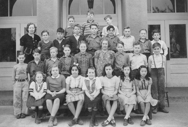 Bellevue Grade School - Fifth Grade 1940 - 1941, just before World War II and the Matsuoka Family incarceration. Takeo (Tom) Matsuoka's son, Ty, is among the students in the second row from the top.