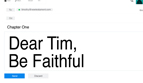 Dear Tim - 13 Part Series