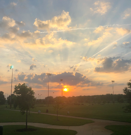 The Sun greeted me in St. Louis