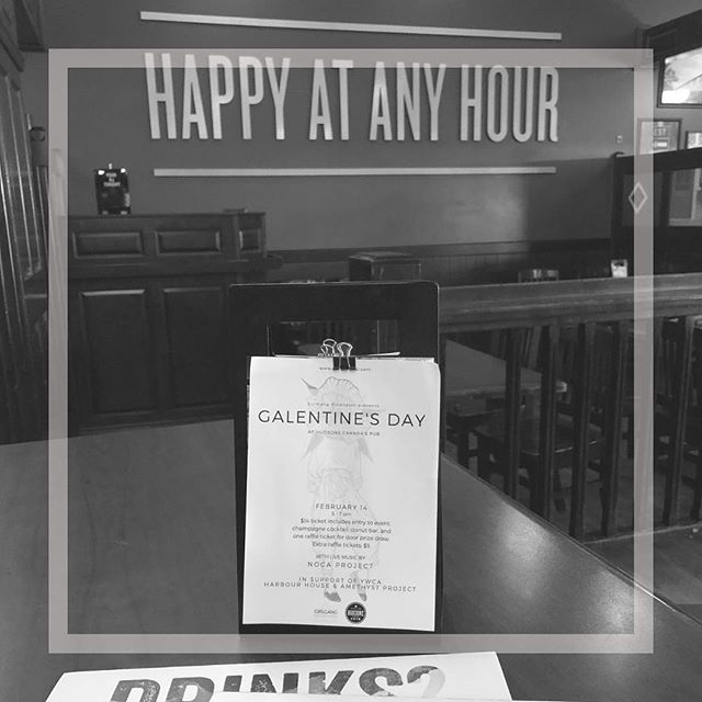 Did you know that every Thursday at Hudsons Canada's Pub is all day Happy Hour? That means tomorrow, while you are supporting the YWCA at Galentine's Day, you will be enjoying half price wine, beer & bar snacks!!! It's a win win! Grab your $14 Galentine's Day ticket AT THE DOOR tomorrow 5-7pm and receive a champagne cocktail, access to the donut bar and an entry into our raffle draws, with proceeds going to support @ywcalethbridge are SO excited! See you tomorrow #bekind #girlgangyql #galentinesday