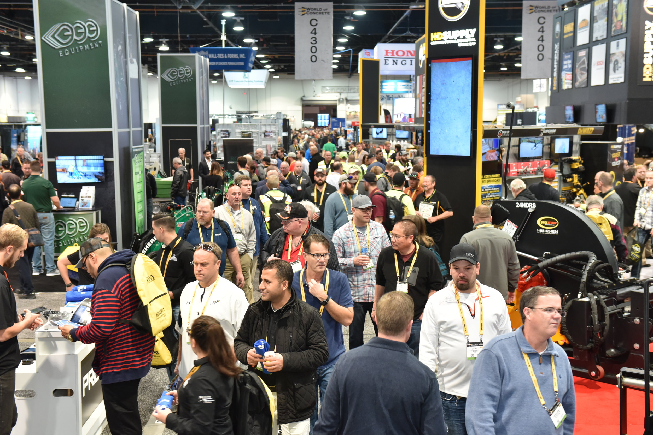 A new U.S. Air Force innovation challenge—this one, on non-destructive testing on steel-lined structures—will be announced in a Jan. 22, 2019 briefing at World of Concrete 2019. Photo of 2018 event by World of Concrete/Informa Exhibitions.