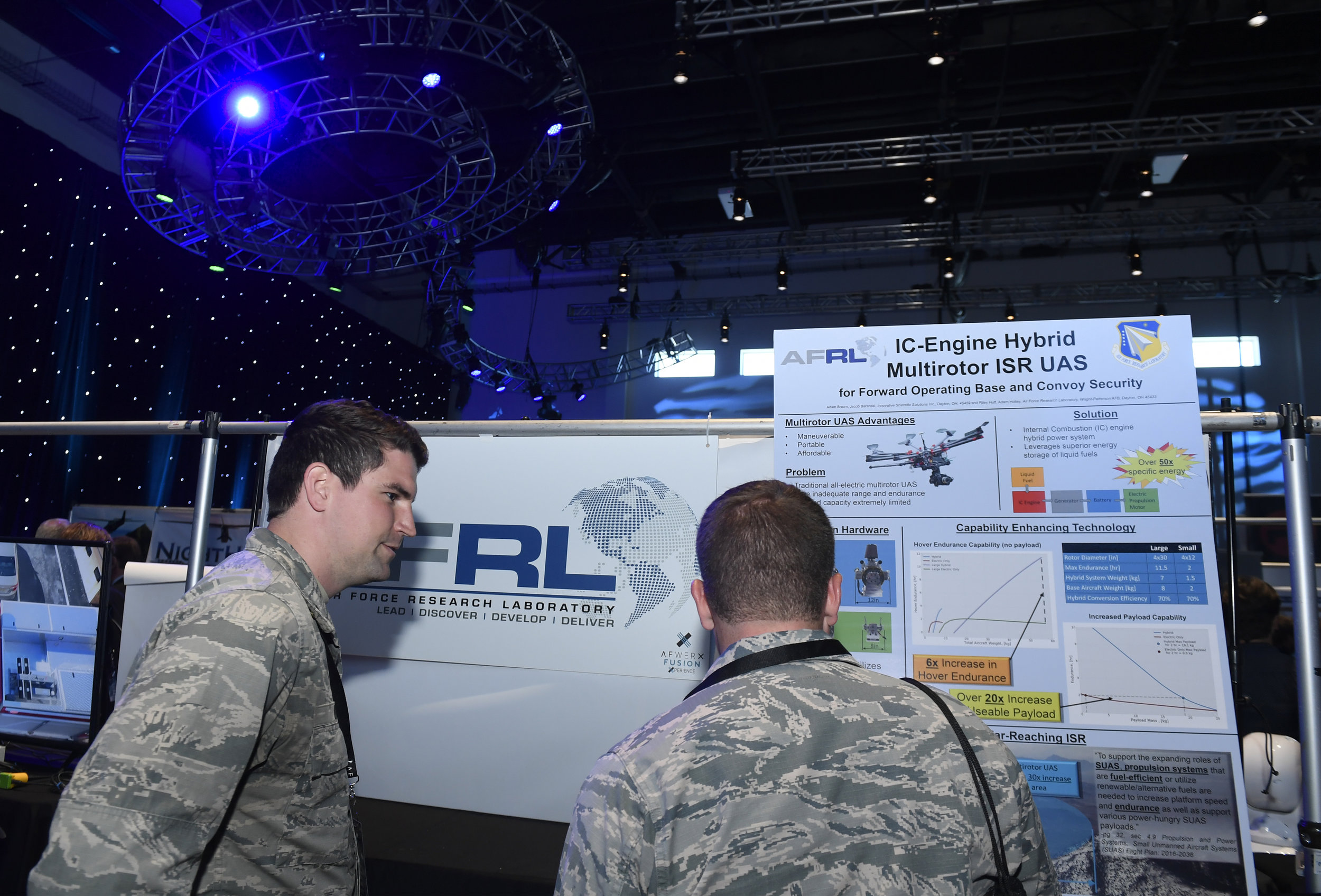 Innovators from the military, industry, investment, and academia meet at the annual AFWERX Fusion Xperience event in Las Vegas, to explore ways to use existing products to meet the U.S. Air Force's most-vexing challenges. Last year, the event focused on security solutions; this year, the event focused on Multi-Domain Operations (MDO). Photo: AFWERX Vegas