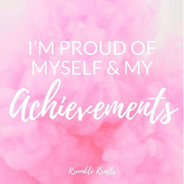 Take some time today to acknowledge all of your achievements! 💕  #krumblekrafts #achievements #proudofmyself