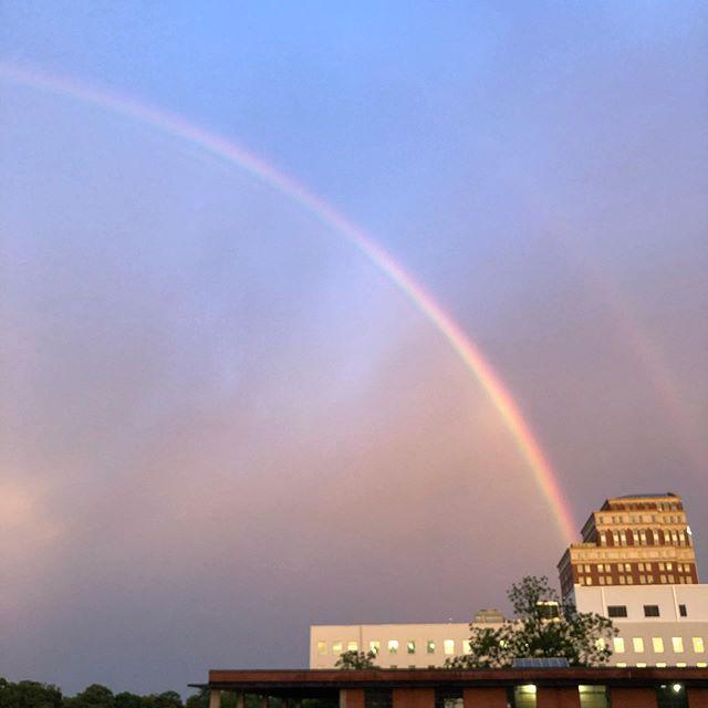 Oh hey, Midtown.  #midtownatl #midtownatlanta #doublerainbow #weloveatl #weloveatlanta