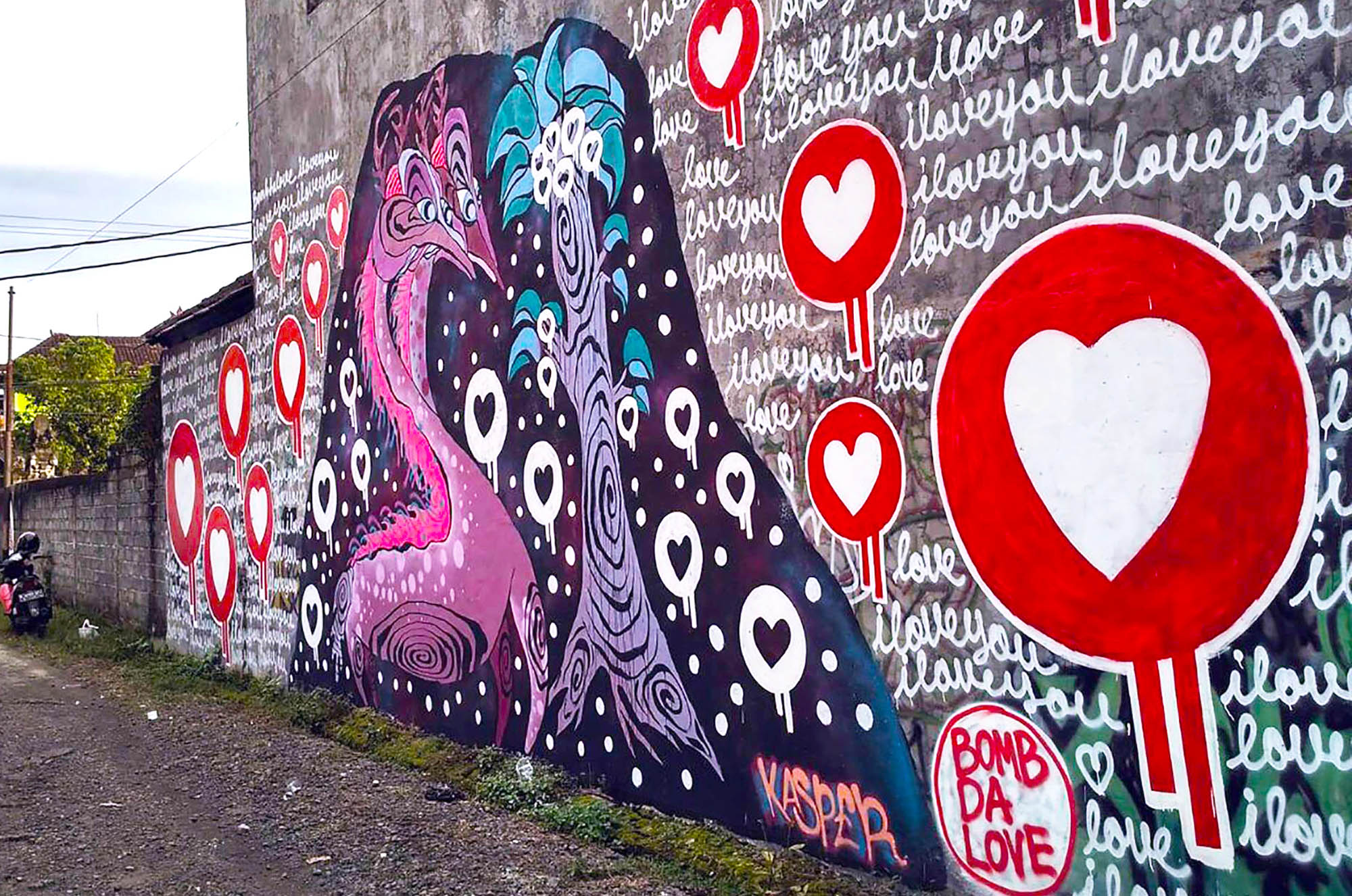 Collaboration with: BOMB DA LOVE painted in Ubud, Bali as a part of my artist residency with Cata Odata