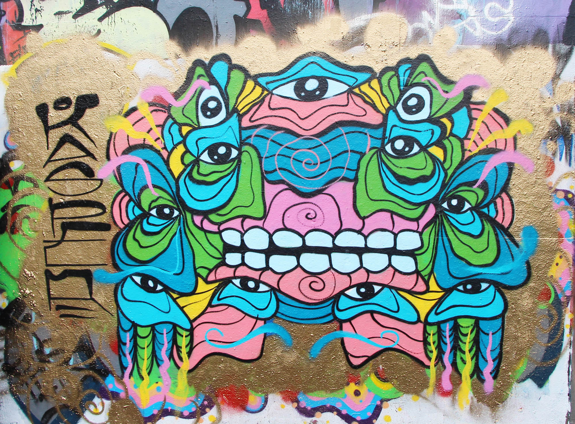 Mural painted at Leeside Skatepark in Vancouver BC