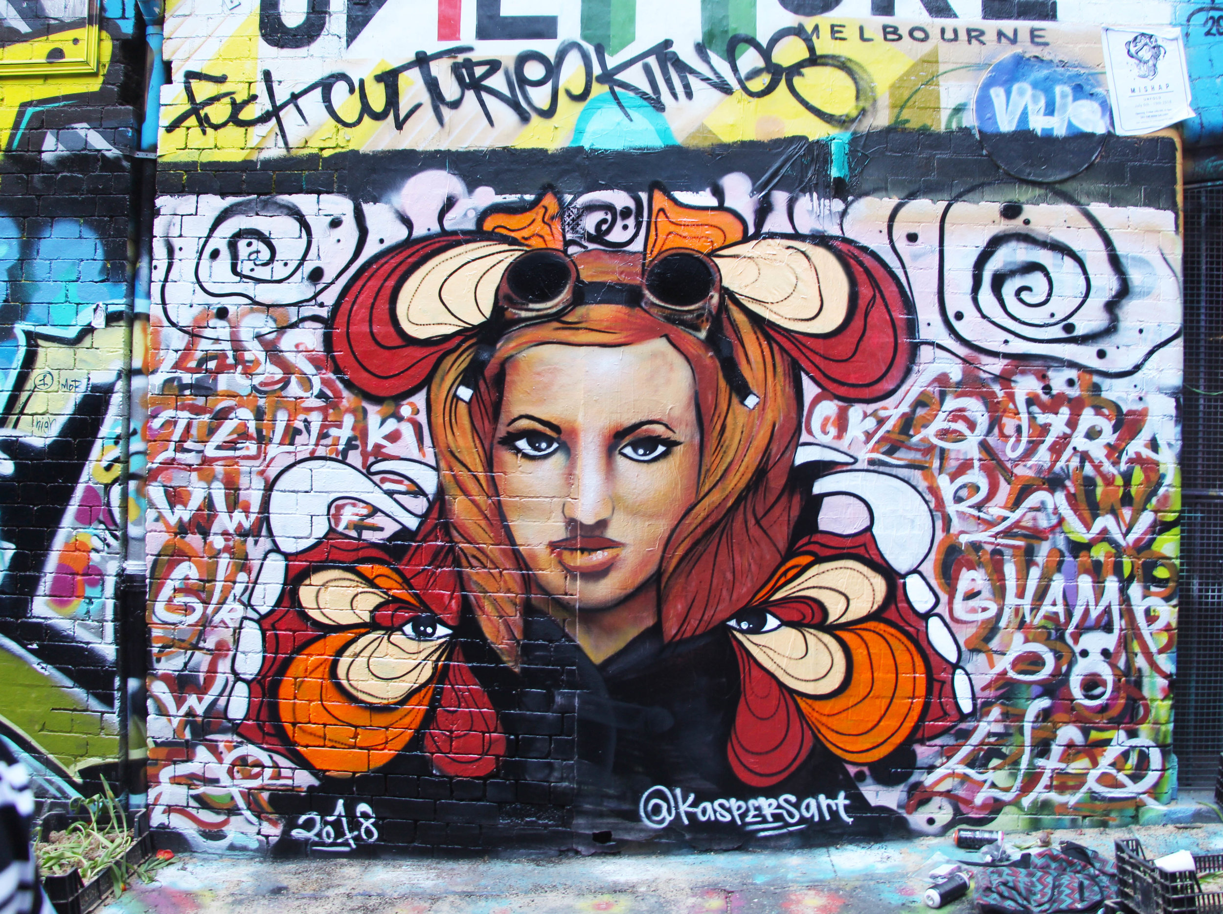 Becky Lynch Mural (Hosier Lane) 05/10/18